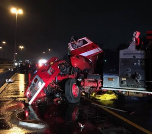 In January 2020, an Alabama fire truck was severely damaged after being struck by a pickup truck while blocking off a crash scene.