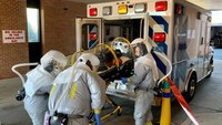 Photo of the Week: Surprise drill for infectious disease transport