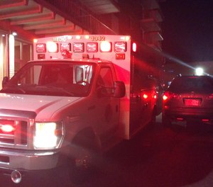 The Euclid Fire Department wrote on Facebook that one of their ambulances was hit by a driver trying to get a parking spot while they were responding to a medical emergency. (Photo/Euclid Fire Department Facebook)