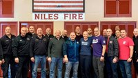 Colleagues shave heads in support of FF-paramedic with breast cancer