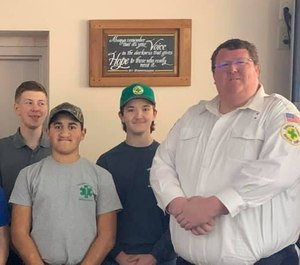 Davidson County Rescue Squad Paramedic Richard Montgomery (right) died in the line of duty in April after having a severe anaphylactic reaction to a bite or sting and going into cardiac arrest during a medical call. He was an Army veteran and ran the Juniors Program at Davidson County Rescue Squad.