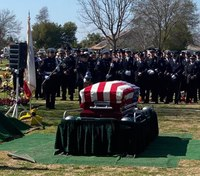 Hundreds attend funeral of fire captain killed in library fire