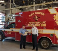Wis. FF-medic recognized for saving infant off duty