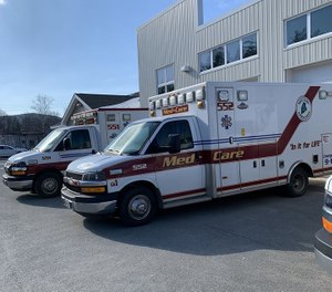 Med-Care, a regional ambulance service that serves 11 Maine municipalities, said it will continue to respond to the town of Rumford despite the town suspending its own EMS. (Photo/Med-Care Ambulance Facebook)