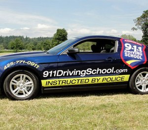 The 911 Driving School was founded 10 years ago by a cop and uses police and fire personnel as instructors. (Courtesy 911 Driving School)