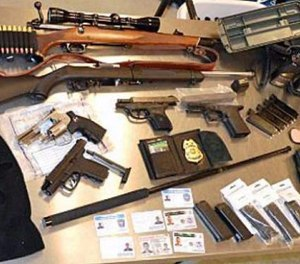 Police discovered a hoard of weapons for which he was not permitted. (Photo/Duxbury Police Dept.)