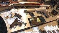 EMT arrested for possessing illegal weapons, fake police badges