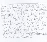Photo of the Week: NC medic's son writes letter to first responders
