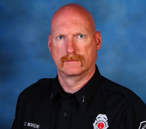 Rapid Response EMS Paramedic Paul Novicki, who was also a past lieutenant at the Huron Township Fire Department, died due to COVID-19 in April. One of his family members, Rachel Elsberry, says she was motivated to join a COVID-19 vaccine trial after his death. (Photo/Huron Township Department of Public Safety Facebook)