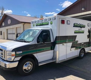 Michigan Area Ambulance Service in Michigan, North Dakota, has won the Northeast Regional Service of the Year award after nearly closing last year. Two of the service's volunteers also received awards from the North Dakota Emergency Medical Services Association. (Photo/Michigan Area Ambulance Service Facebook)