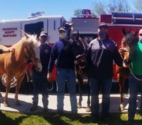 Md. firefighters bring special visitors to nursing homes