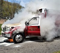 Conn. ambulance catches fire with patient inside