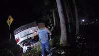 Watch: Va. LEO single-handedly lifts car off trapped woman