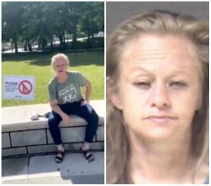 Rachel Dawn Ruit, 41, was in critical condition at Mission Hospital in Asheville as of Tuesday morning, according to the city's police department. Pruit's mugshot is from a July 4 incident in which she was charged with simple assault, disorderly conduct and second-degree trespass. (Photo/Asheville Police Department)