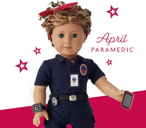 Richmond Ambulance Authority EMT April O'Quinn was made into a custom American Girl doll after being nominated for the