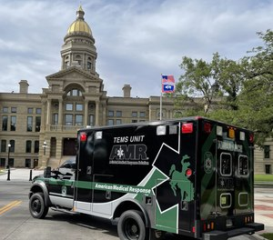 The new wrap on an older ambulance is for TEMS support at SWAT incidents.