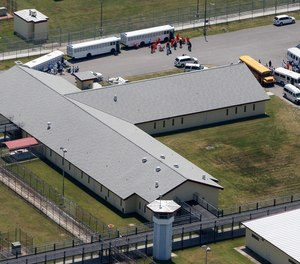 Surveillance video from Elayn Hunt Correctional Center in St. Gabriel, Louisiana, captured an inmate dragging Deshunta Miller into a bathroom at knifepoint last summer.