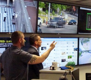 Real-time crime centers analyze data from surveillance cameras, gunshot detectors, license plate scanners and other sources.