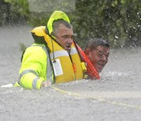 Police union: Firefighters, cops helping save Harvey victims shot at by looters