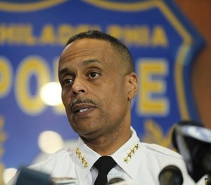 Philadelphia Police Commissioner Richard Ross speaks to the media during a news conference, Thursday, April 19, 2018 in Philadelphia.