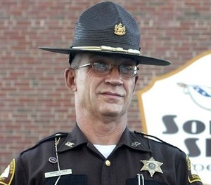 This 2007 photo shows Somerset County Cpl. Sheriff Eugene Cole , who was killed early Wednesday, April 25, 2018, in Norridgewock, Maine.