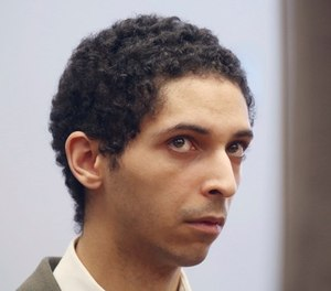 Tyler Barriss appears before Judge Bruce Brown Tuesday, May 22, 2018 in a preliminary hearing in Wichita, Kan. (Bo Rader/The Wichita Eagle via AP)