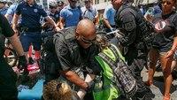 Police break up encampment outside Philadelphia immigration building