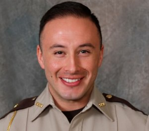Officer Jaime Morales sustained critical injuries in the incident. (Scott County Sheriff's Office via AP)