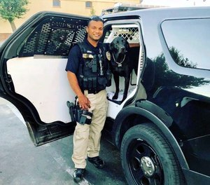 This undated photo provided by the Newman Police Department shows officer Ronil Singh of Newman Police Department who was killed by an unidentified suspect. The Stanislaus County Sheriff's Department said Singh was conducting a traffic stop early Wednesday, Dec. 26, 2018, in the town of Newman, Calif. when he called out