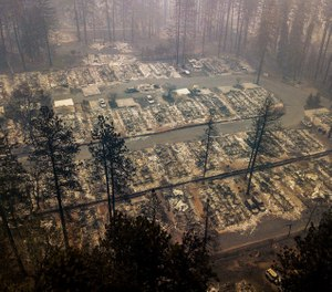 In this Thursday, Nov. 15, 2018, file photo, residences leveled by the wildfire line a neighborhood in Paradise, Calif. More than 2.7 million Californians live in areas that are at very high risk for wildfires. One in 12 homes in California are at high risk of burning in a wildfire. The more information we can share about where and how we're falling short, the quicker we can come together on potential solutions. (AP Photo/Noah Berger, File)