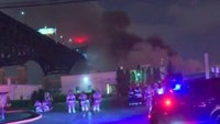 NJ firefighters battle chemical plant fire