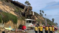 3 killed as cliff collapses on popular California beach