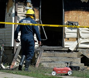 Authorities said an early morning fire in northwestern Pennsylvania claimed the lives of multiple children and sent another person to the hospital. (Photo/Greg Wohlford by Erie Times-News via AP)