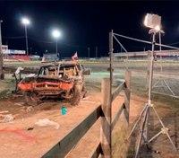 EMT killed, 7 injured in Mont. demolition derby crash