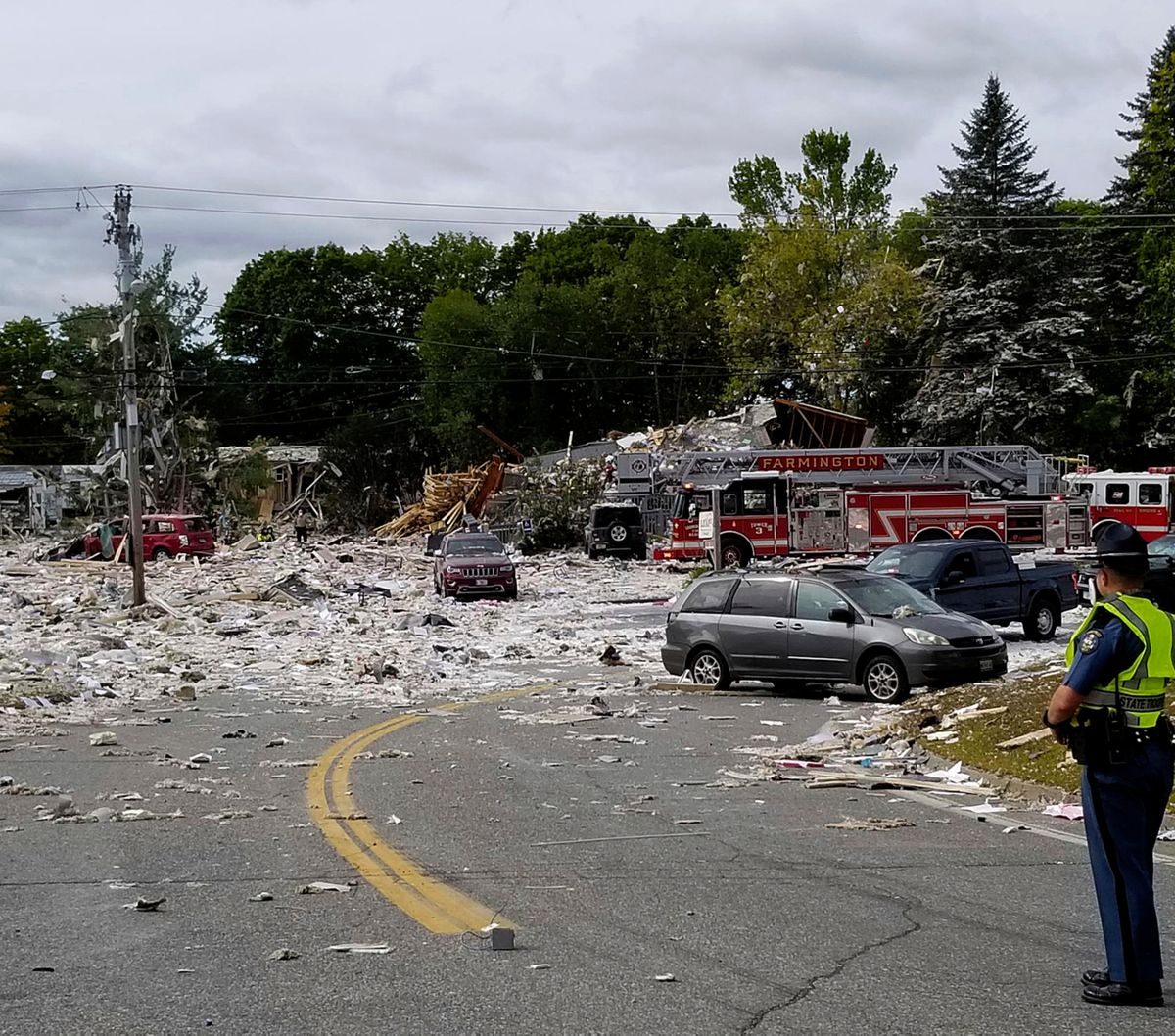 Firefighter killed in ME building explosion