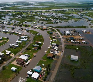 According to Matagorda County Constable Bill Orton, Sargent received 22 inches of rain since Imelda started impacted the area on Tuesday. Photographed from above Sargent, Texas.