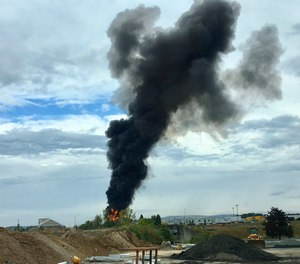 A fire-and-rescue operation is underway where World War II-era bomber plane crashed at Bradley International Airport in Windsor Locks, Conn.