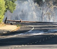 Utility officials: Power lines may have started 2 Calif. fires