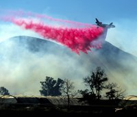 Firefighters make progress on large Southern Calif. wildfire