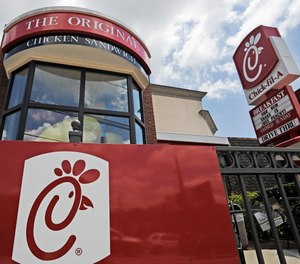 This July 19, 2012, file photo shows a Chick-fil-A fast food restaurant in Atlanta.