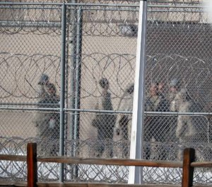 Inmates will be confined to their cells for at least two weeks. (AP Photo/David Zalubowski)