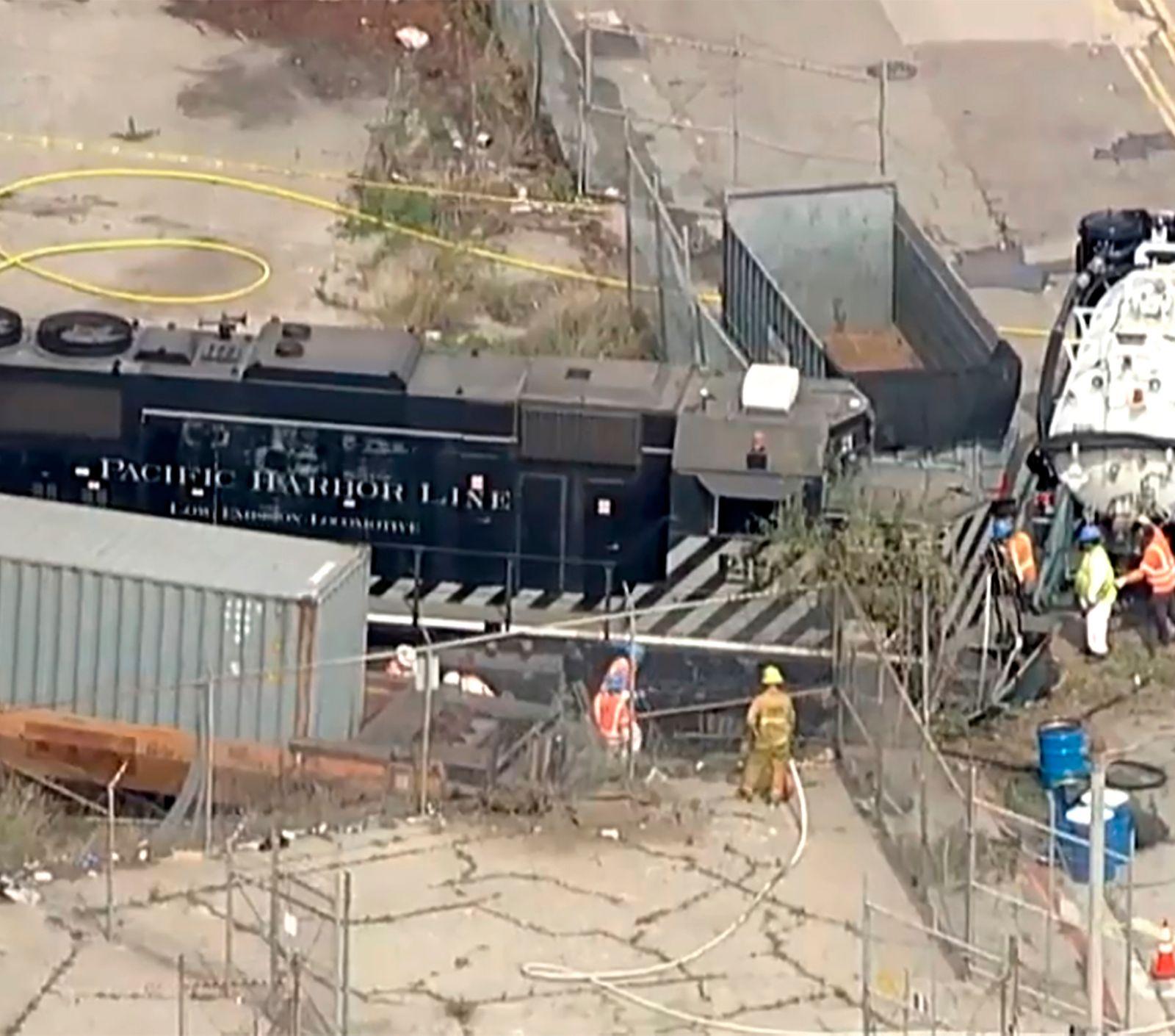 Man intentionally derailed LA train near hospital...