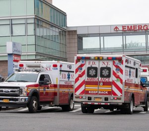 The FDNY is monitoring a new outbreak of COVID-19 at an EMS station in Queens. Five members at the Astoria station have tested positive for the virus. (AP Photo/Mary Altaffer)