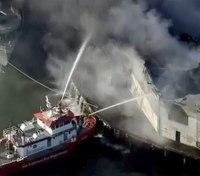 100+ FFs battle San Francisco pier fire