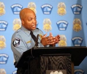 Minneapolis Police Chief Medaria Arradondo addresses the media where he discussed police reforms, Wednesday, June 10, 2020 in Minneapolis.