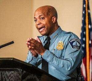 Minneapolis Police Department Chief of Police Medaria Arradondo, speaks in Minneapolis.