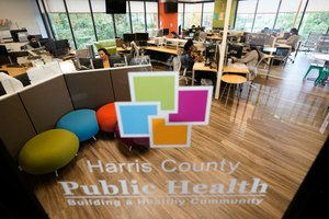 Contact tracers work at Harris County Public Health contact tracing facility Thursday, June 25, 2020, in Houston. Texas Gov. Greg Abbott said Wednesday that the state is facing a