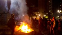 Ore. protesters clash with police, throw fireworks