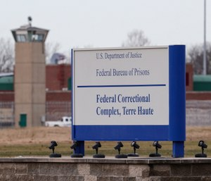 Three people are slated to die by lethal injection in one week. The executions will take place at USP Terre Haute. (AP Photo/Michael Conroy)
