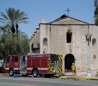 Fire destroys much of 249-year-old Calif. church